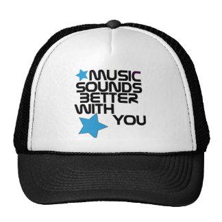 La música suena mejor con usted gorras