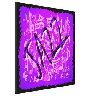 La música violeta púrpura del jazz observa arte impresiones en lienzo estiradas