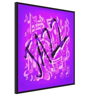 La música violeta púrpura del jazz observa arte impresión de lienzo