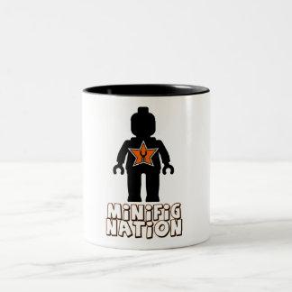 La nación de Minifig cerca modifica mi Minifig Taza De Dos Tonos