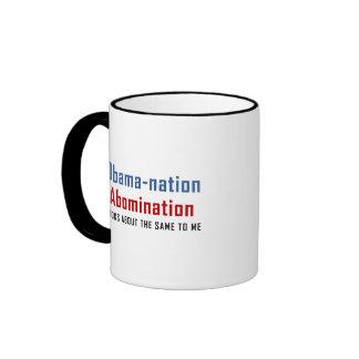 La nación de Obama es un aborrecimiento Tazas