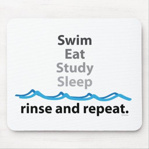 La nadada, come, estudia, duerme… aclaración y rep alfombrilla de ratones