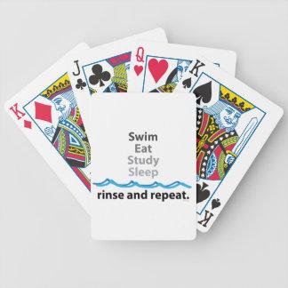 La nadada come naipes del sueño del estudio baraja cartas de poker
