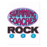 La nadada entrena los regalos tarjetas postales
