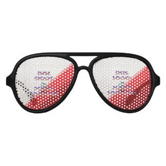La nadada SUPERIOR soña los E.E.U.U. Gafas De Fiesta