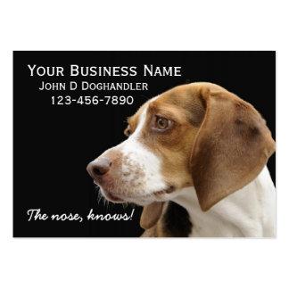 ¡La nariz!  Doghandler Tarjetas De Visita