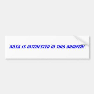 ¡la NASA está interesada en este parachoque! Pegatina Para Auto