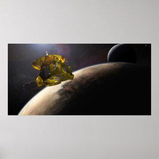 La NASA New Horizons hace a mano en espacio Póster