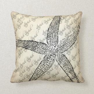 La nata, negro, estrella de mar diseñó la almohada