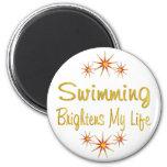 La natación aclara mi vida imán para frigorifico