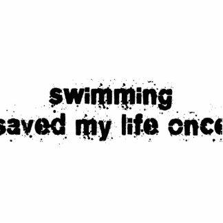 La natación ahorró mi vida una vez esculturas fotográficas