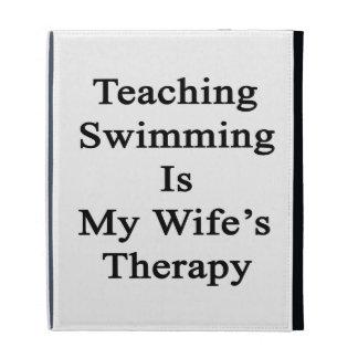 La natación de enseñanza es la terapia de mi