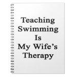 La natación de enseñanza es la terapia de mi cuadernos