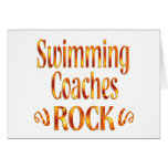 La natación entrena la roca felicitacion