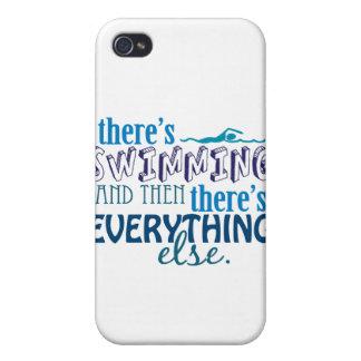 La natación es Eleverything iPhone 4 Protector