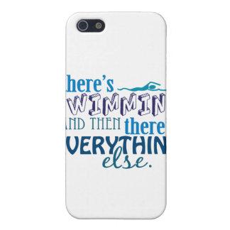 La natación es Eleverything iPhone 5 Funda