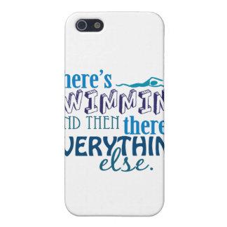 La natación es Eleverything iPhone 5 Fundas