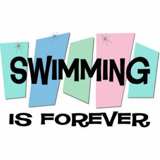 La natación es Forever Esculturas Fotográficas