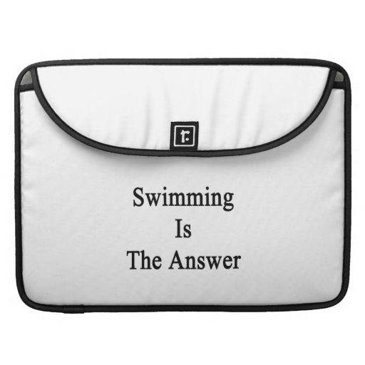 La natación es la respuesta fundas para macbooks