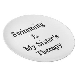 La natación es la terapia de mi hermana platos de comidas