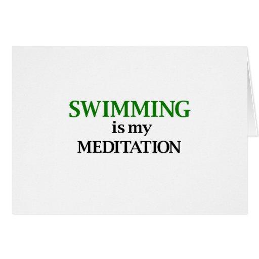 La natación es mi meditación tarjetas