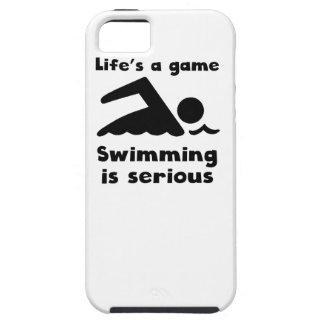 La natación es seria iPhone 5 funda