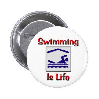 La natación es vida pin