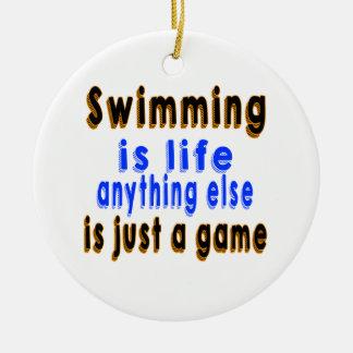 La natación es vida que todo lo demás es apenas un ornamento de navidad
