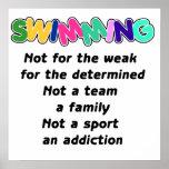 La natación está para el resuelto impresiones