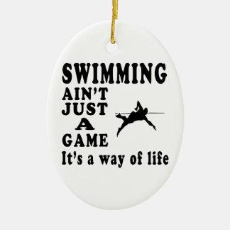 La natación no es apenas un juego que es una maner adornos de navidad