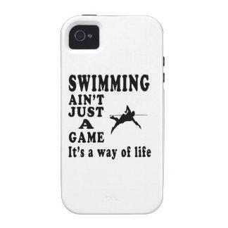 La natación no es apenas un juego que es una maner Case-Mate iPhone 4 funda