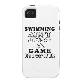 La natación no es apenas un juego que es una maner vibe iPhone 4 fundas
