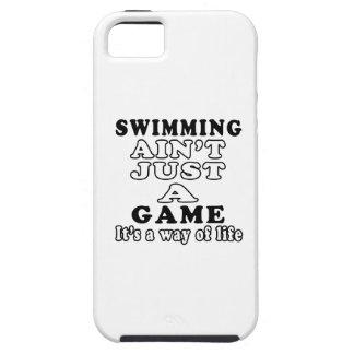 La natación no es apenas un juego que es una maner iPhone 5 Case-Mate protectores