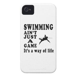 La natación no es apenas un juego que es una maner iPhone 4 Case-Mate fundas