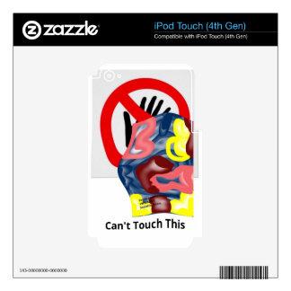 La natación no puede tocar esto iPod touch 4G calcomanías