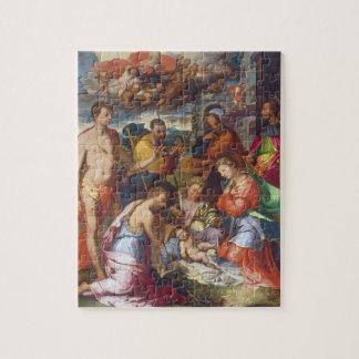 La natividad, 1534 (aceite en el panel) rompecabezas con fotos