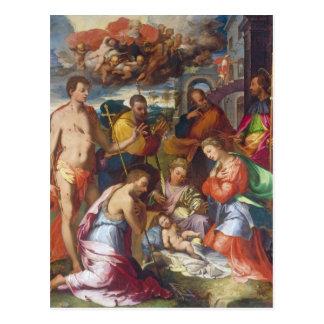 La natividad, 1534 (aceite en el panel) tarjetas postales