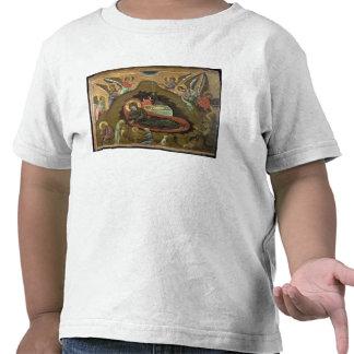 La natividad, (aceite en el panel) camisetas