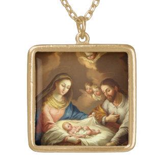 """""""La Natividad"""" art necklace"""