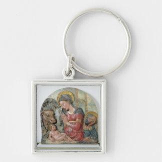 La natividad, c.1460 (terracota pintada) llavero