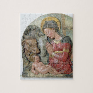 La natividad, c.1460 (terracota pintada) puzzle