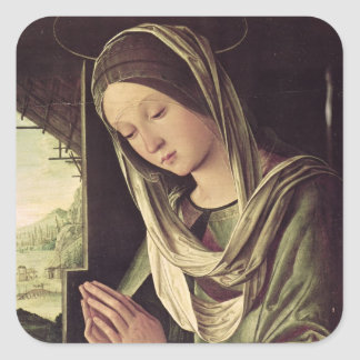 La natividad, c.1490 calcomania cuadradas personalizadas