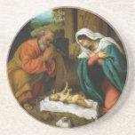 La natividad Christi Geburt de Lorenzo Lotto Posavasos Diseño