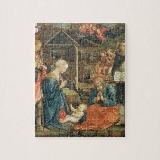 La natividad con los SS. Michael y Dominic, 1470 ( Rompecabeza