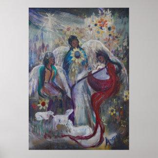 La natividad de ángeles póster