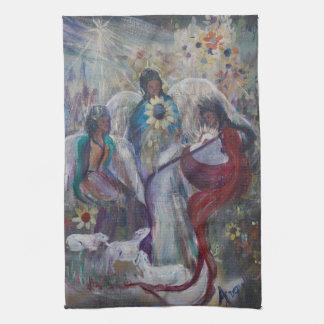 La natividad de ángeles toallas