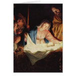 La natividad de Jesús - Gerard van Honthorst Tarjeta De Felicitación