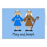La natividad de los niños - Maria y José (rubios) Tarjetón