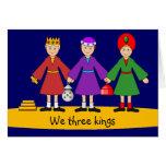 La natividad de los niños - nosotros tres reyes felicitacion