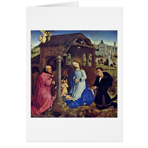 La natividad de Rogier van der Weyden Tarjeton